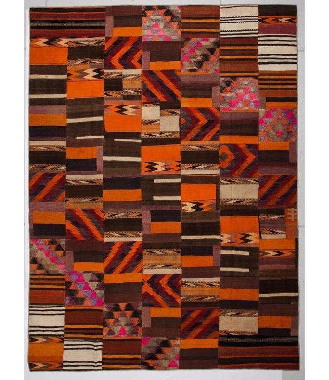 13.45x9.90 feet Patchwork Kilim carpet 410x302 cm