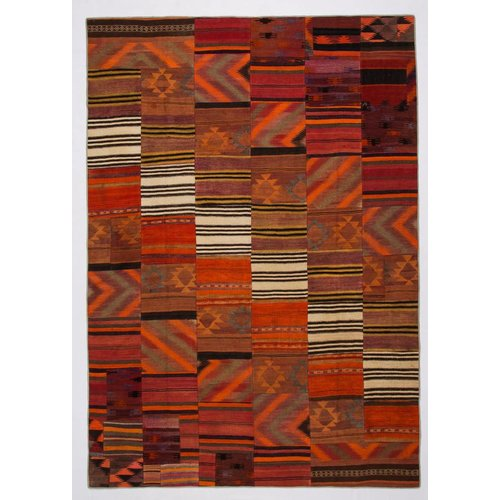 Kelimshop kelim patchwork tapijt 357x250 cm