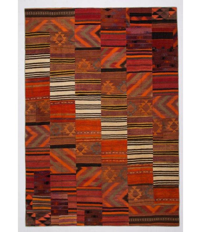 kelim patchwork tapijt 357x250 cm