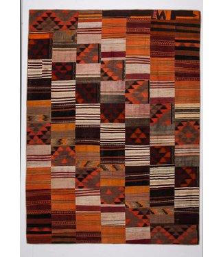 12.33x9.08 feet Patchwork Kilim carpet 376x277 cm