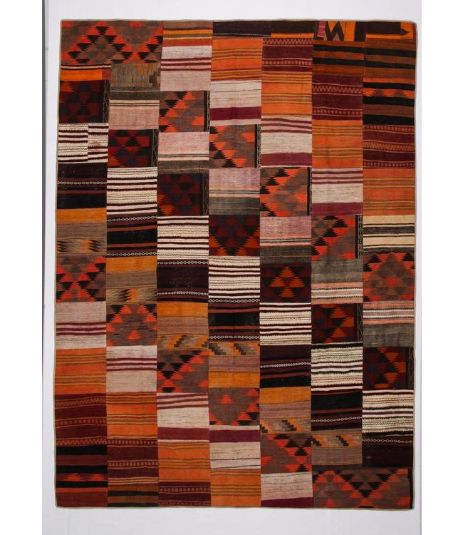 12.33x9.08 feet Patchwork Kilim carpet 376x277 cm