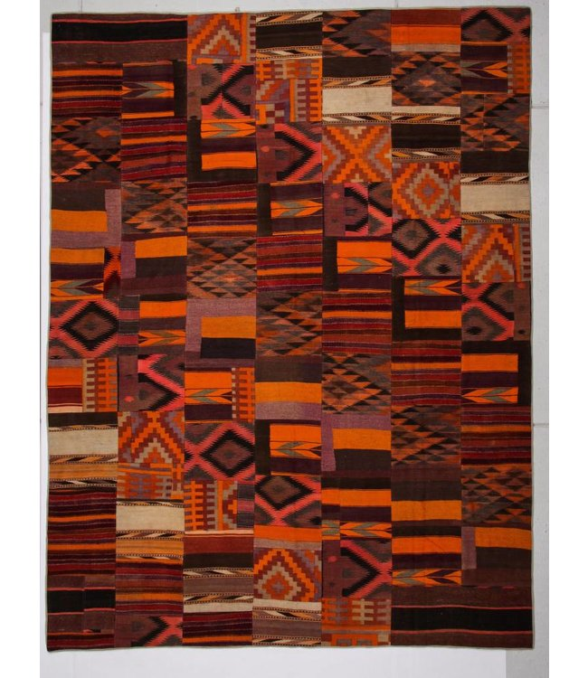 12.99x9.87 feet Patchwork Kilim carpet 396x301 cm