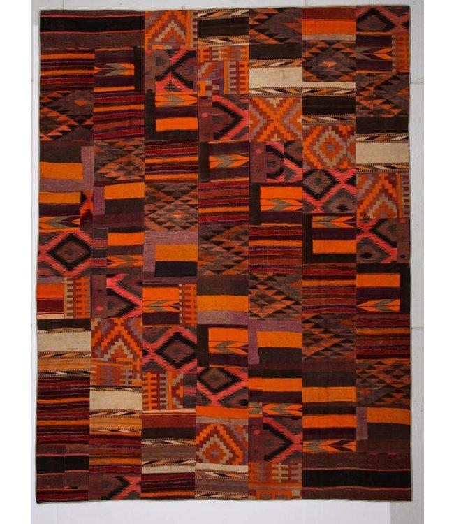 kelim patchwork tapijt 396x301 cm