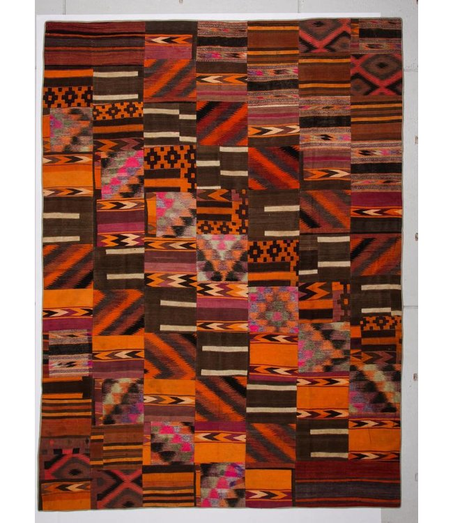 13.41x9.90 feet Patchwork Kilim carpet 409x302 cm
