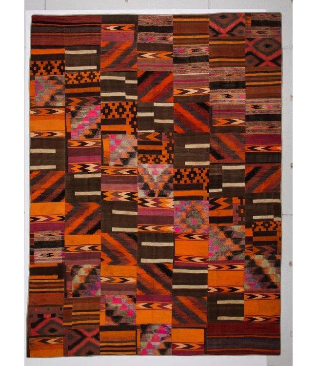 kelim patchwork tapijt 409x302 cm