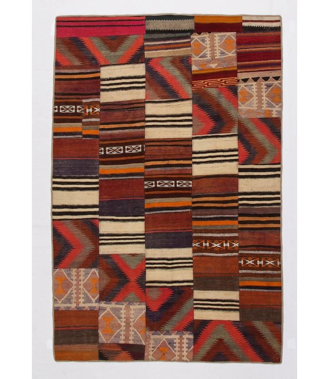 8.20x5.41 feet Patchwork Kilim carpet 250x165 cm