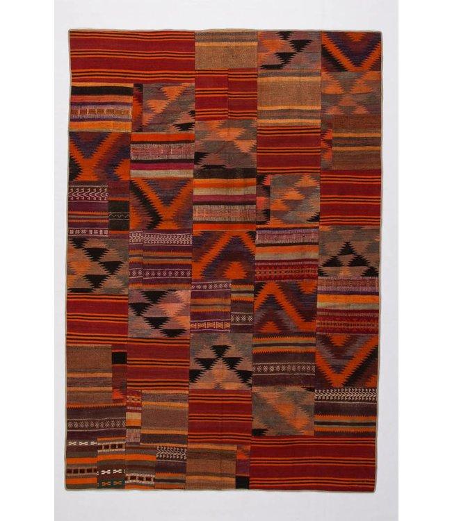 kelim patchwork tapijt 293x198 cm