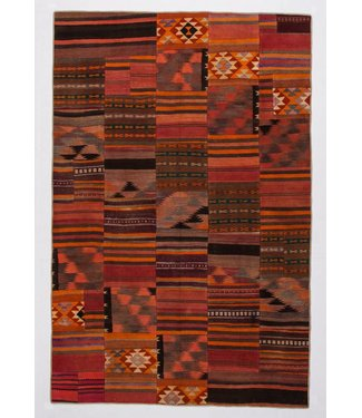 kelim patchwork tapijt 303x199 cm