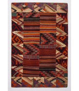9.51x6.33 feet Patchwork Kilim carpet 290x193 cm