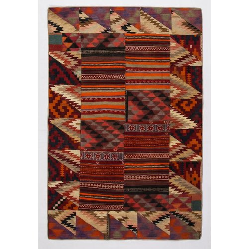 Kelimshop kelim patchwork tapijt 290x193 cm
