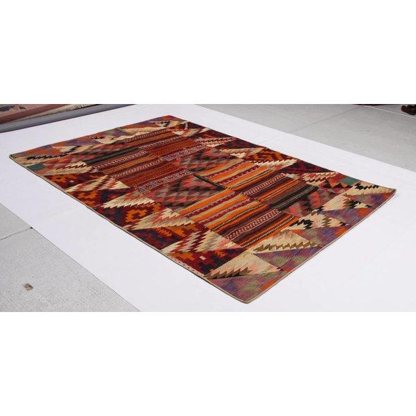 kelim patchwork tapijt 290x193 cm