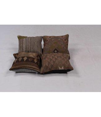 KELIMSHOP 4x unique Kilim Cushion ca 40x40 cm