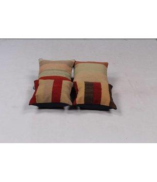 kelim kussens 4x modern unique Kilim Cushion ca 40x40 cm