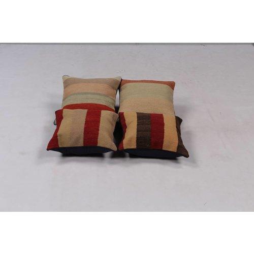 Kelimshop 4x modern unique Kilim Cushion ca 40x40 cm