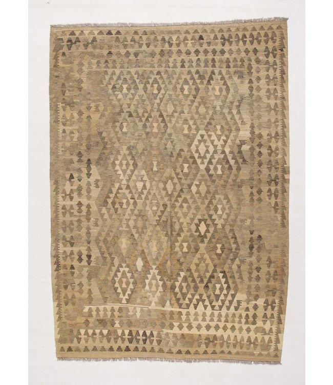 Handgemaakt Natural Kelim Wol Tapijt 290x207 cm
