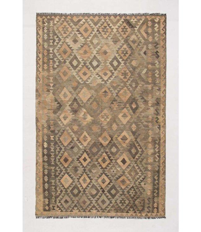 Handgemaakt Natural Kelim Wol Tapijt 297x191 cm