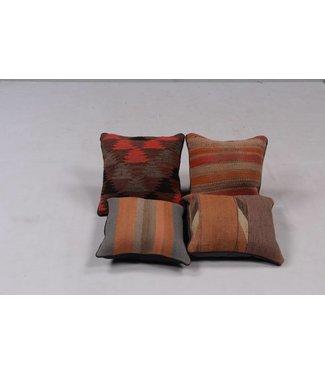 4x modern unique Kilim Cushions ca 40x40 cm