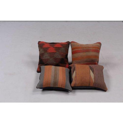 Kelimshop 4x modern unique Kilim Cushions ca 40x40 cm