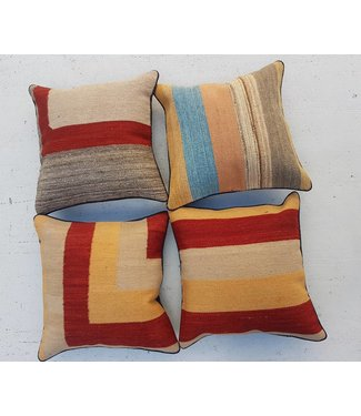 4x modern unique Kilim Cushion ca 40x40 cm -