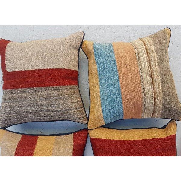 4x modern unique Kilim Cushion  ca 40x40 cm