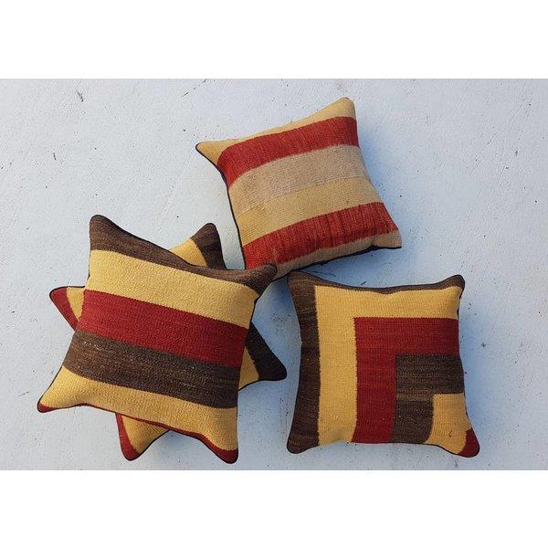 4x modern unique Kilim Cushion  ca 45x45 cm