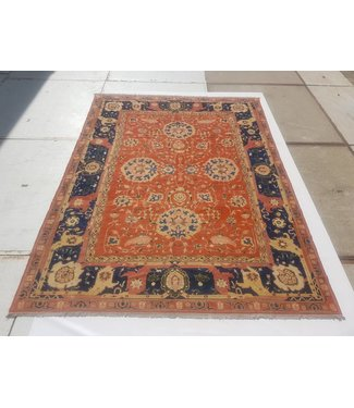 KELIMSHOP Handwoven Sumak kilim rug 400x296 cm