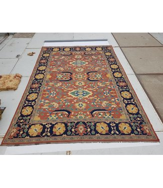 KELIMSHOP Handwoven Sumak kilim rug 433x303 cm
