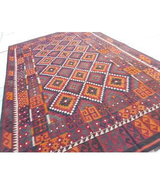 mooie afghaanse kelim 100% wol tapijt  439x273 cm