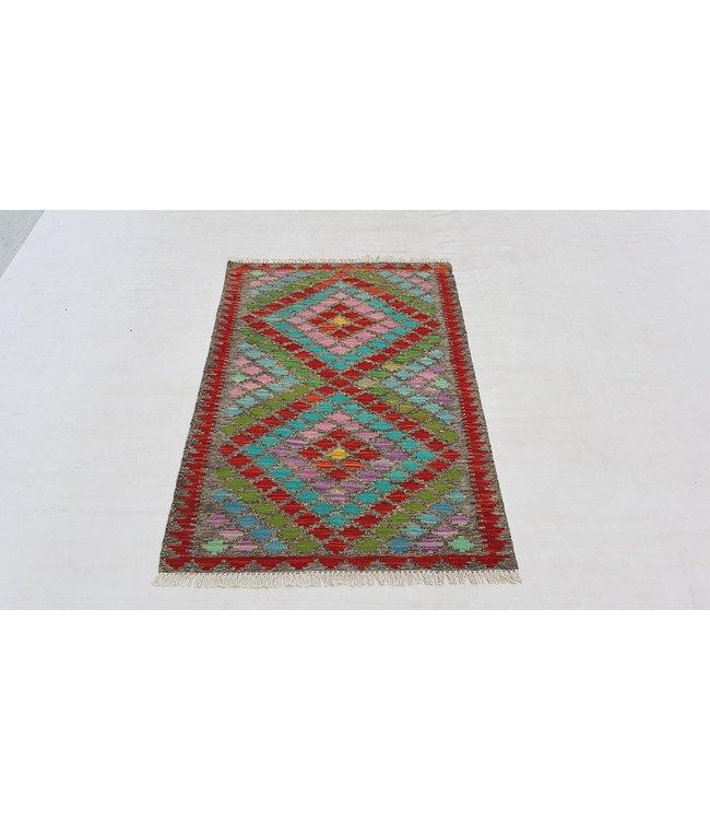 kelim kleed  119 x 82 cm   vloerkleed tapijt kelims hand geweven