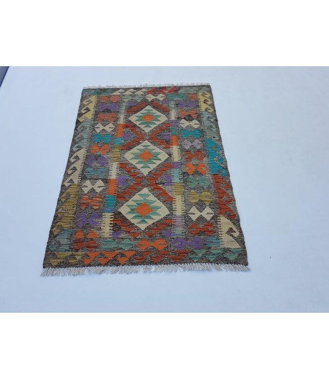 kelim kleed  128x 90 cm    vloerkleed tapijt kelims hand geweven