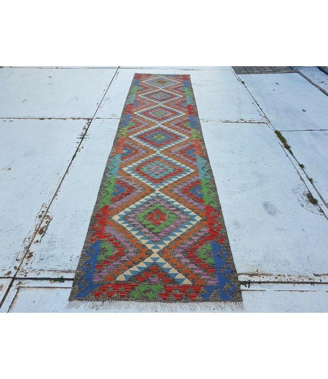 kelim kleed    379x89 cm vloerkleed tapijt kelims hand geweven