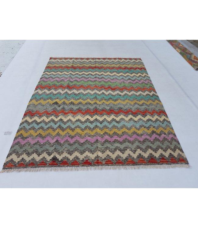 kelim kleed  194x153cm vloerkleed tapijt kelims hand geweven
