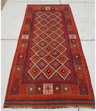 KELIMSHOP kelim kleed 356 x 153 cm vloerkleed tapijt kelims hand geweven