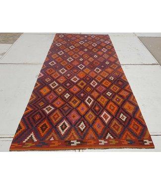 KELIMSHOP kelim kleed  426x188 cm vloerkleed tapijt kelims hand geweven