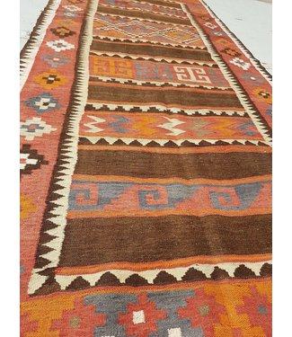 KELIMSHOP kelim kleed 329 x 137 cm vloerkleed tapijt kelims hand geweven