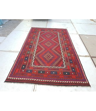 KELIMSHOP kelim kleed 403 x 240 cm vloerkleed tapijt kelims hand geweven