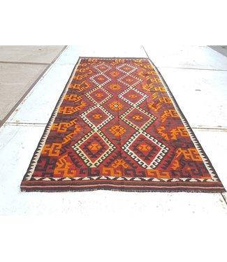 KELIMSHOP kelim kleed 336 x 159 cm vloerkleed tapijt kelims hand geweven