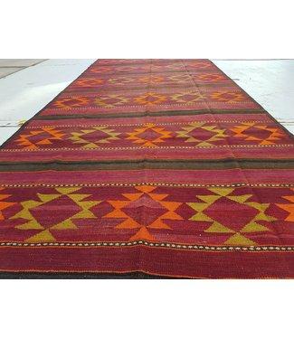 KELIMSHOP kelim kleed 360 x 155 cm vloerkleed tapijt kelims hand geweven