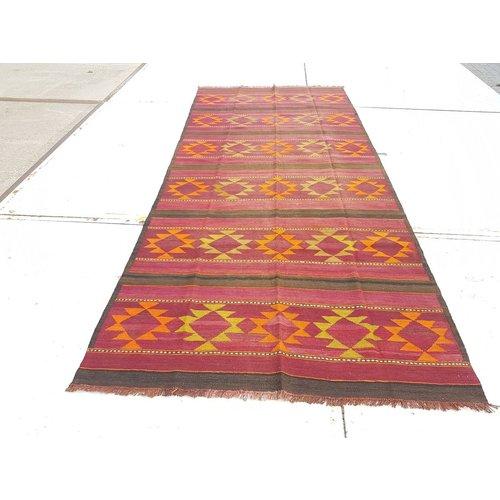 kelim kleed 360 x 155 cm vloerkleed tapijt kelims hand geweven