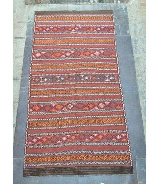KELIMSHOP kelim kleed  442 x 222 cm vloerkleed tapijt kelims hand geweven