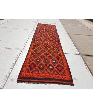 KELIMSHOP kelim kleed  472 x 125 cm vloerkleed tapijt kelims hand geweven