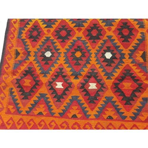 kelim kleed    472 x 125 cm vloerkleed tapijt kelims hand geweven