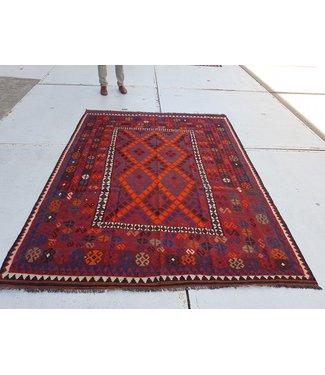 KELIMSHOP kelim kleed  261 x 197 cm vloerkleed tapijt kelims hand geweven