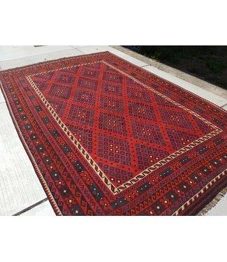 KELIMSHOP kelim kleed  424 x 284 cm vloerkleed tapijt kelims hand geweven