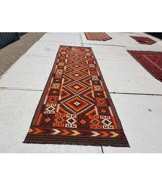 KELIMSHOP kelim kleed  458 x 133 cm vloerkleed tapijt kelims hand geweven
