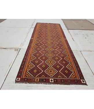 KELIMSHOP kelim kleed  417 x 150 cm vloerkleed tapijt kelims hand geweven