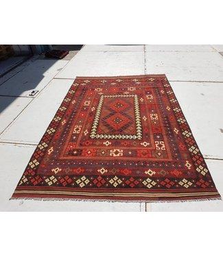 KELIMSHOP kelim kleed 285 x 198 cm vloerkleed tapijt kelims hand geweven