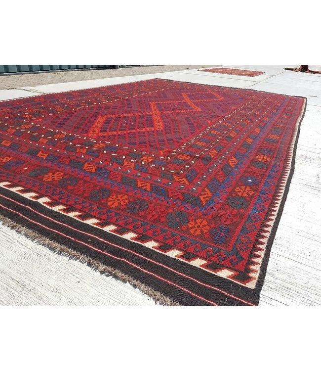 kelim kleed    414 x 245 cm vloerkleed tapijt kelims hand geweven