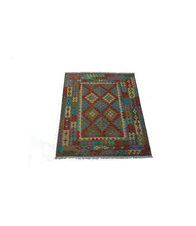 kelim kleed    196x161 cm vloerkleed tapijt kelims hand geweven