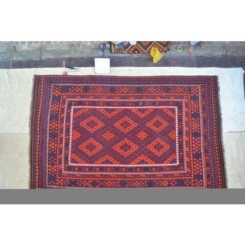 kelim 369 x 241 cm vloerkleed tapijt kelims hand geweven
